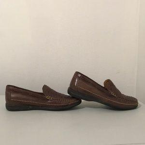 Johnston & Murphy Sheepskin woven loafers